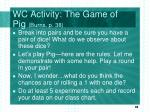 wc activity the game of pig burns p 38