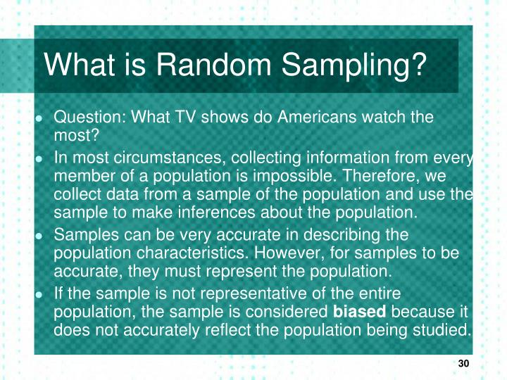 What is Random Sampling?