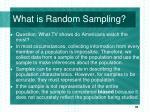 what is random sampling