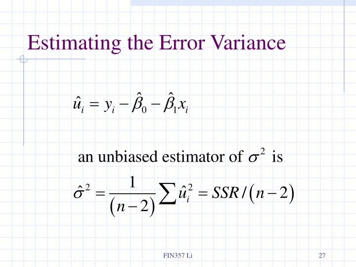 Estimating the Error Variance