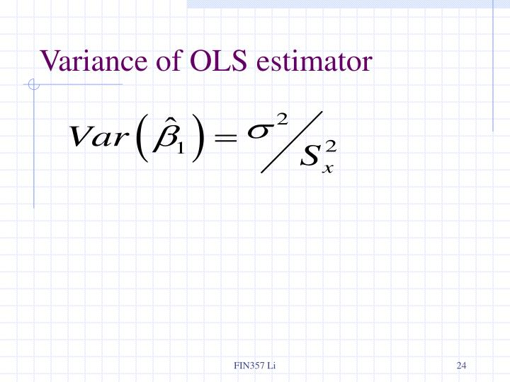 Variance of OLS estimator