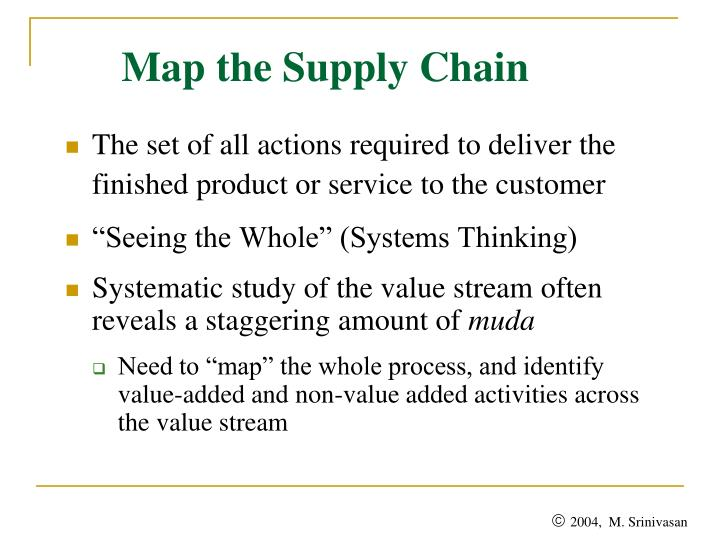 Map the Supply Chain