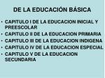 de la educaci n b sica
