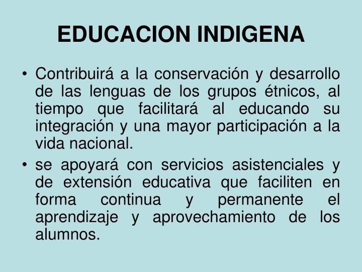 EDUCACION INDIGENA