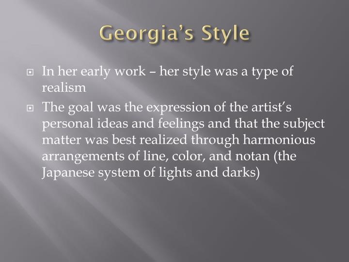Georgia's Style