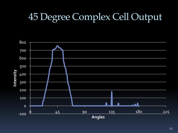45 Degree Complex Cell Output