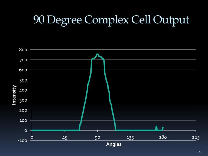 90 Degree Complex Cell Output