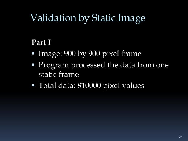 Validation by Static Image