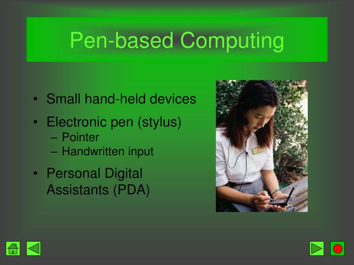 Pen-based Computing