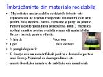 mbr c minte din materiale reciclabile