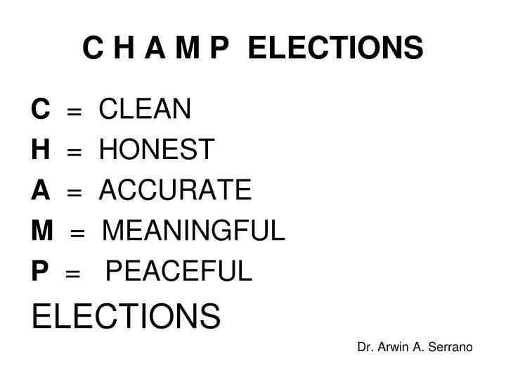 C H A M P  ELECTIONS