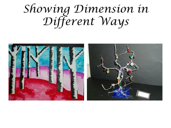 Showing Dimension in Different Ways