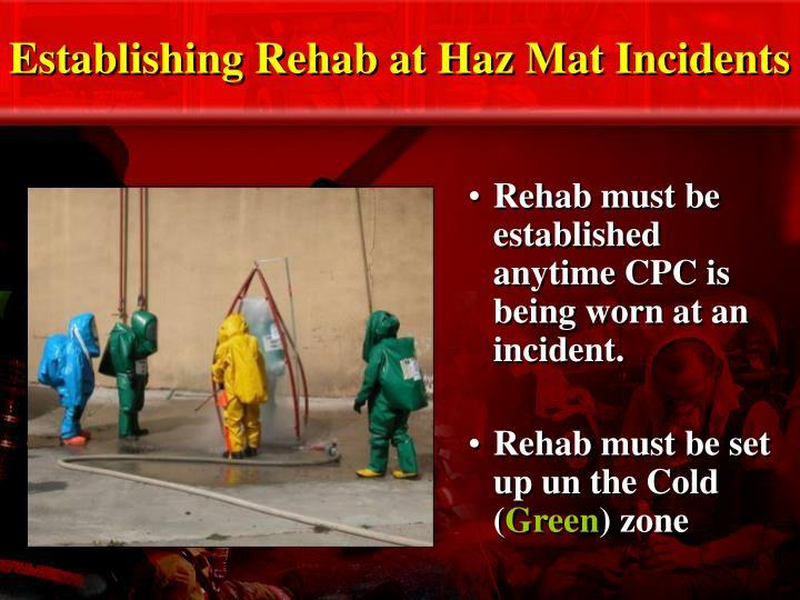 Establishing Rehab at Haz Mat Incidents