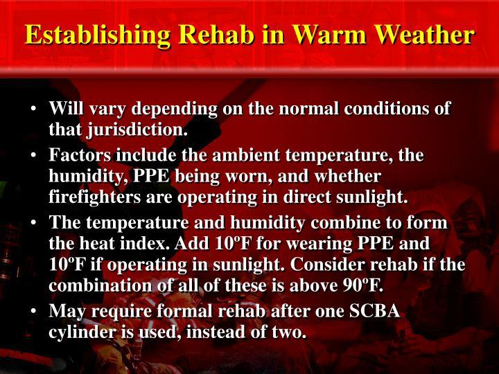 Establishing Rehab in Warm Weather