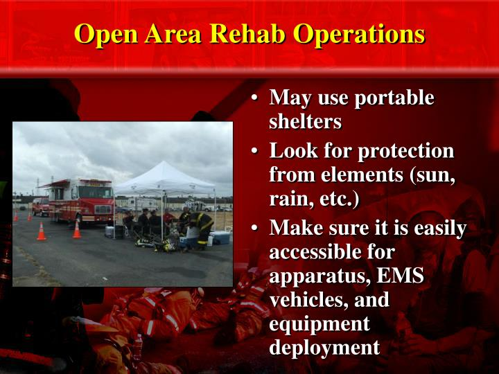 Open Area Rehab Operations