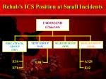 rehab s ics position at small incidents