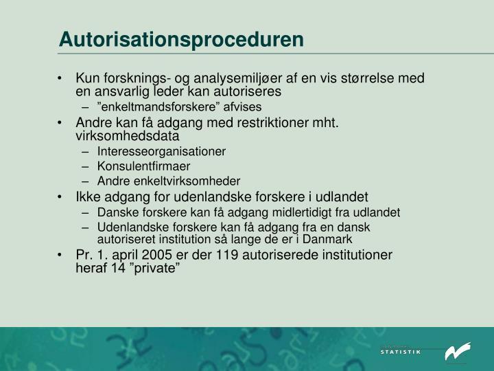 Autorisationsproceduren