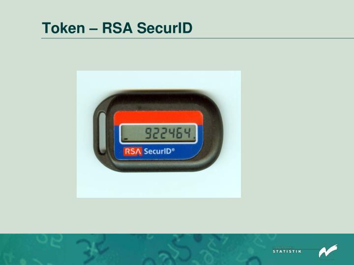 Token – RSA SecurID