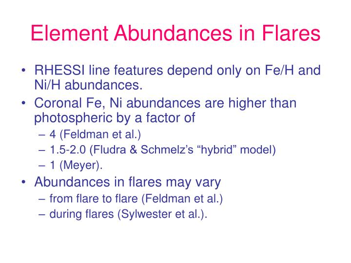 Element Abundances in Flares