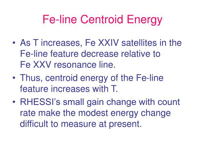 Fe-line Centroid Energy