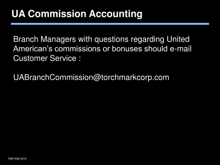 UA Commission Accounting