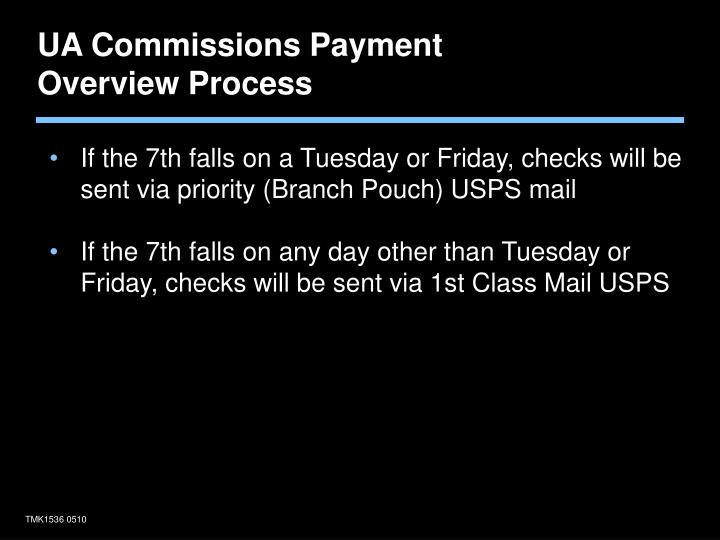 UA Commissions Payment Overview Process