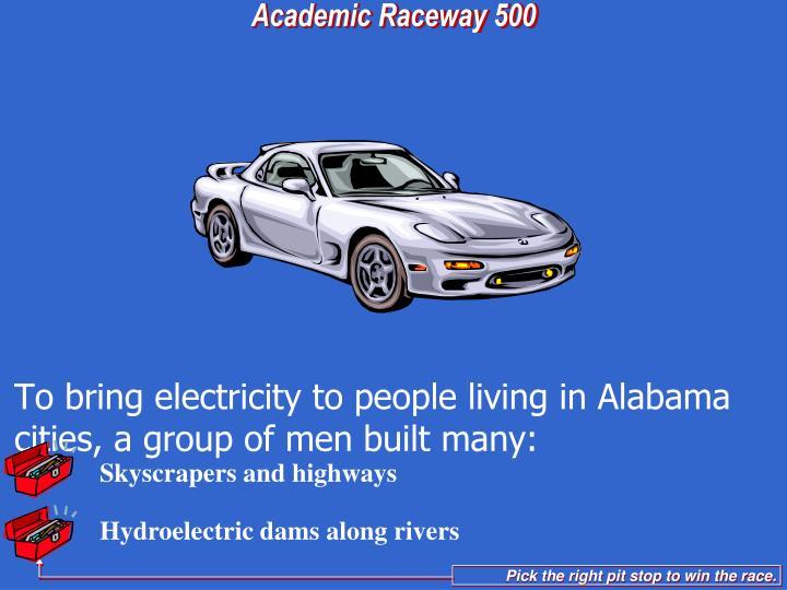 Hydroelectric dams along rivers