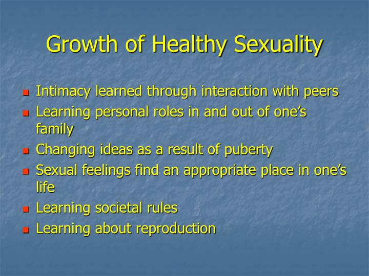 Growth of Healthy Sexuality