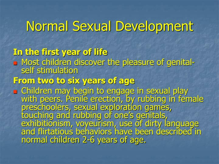 Normal Sexual Development