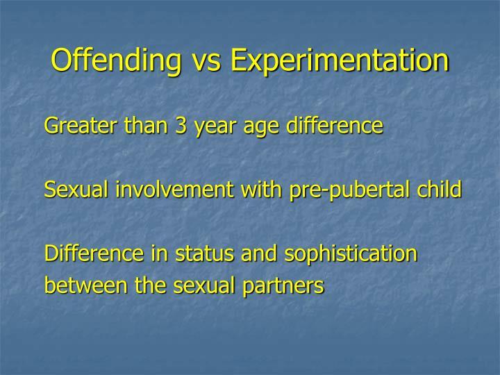 Offending vs Experimentation