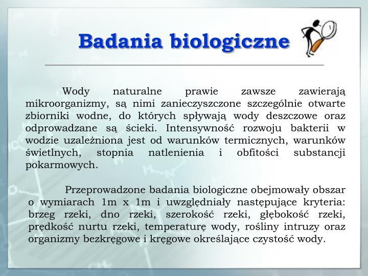 Badania biologiczne