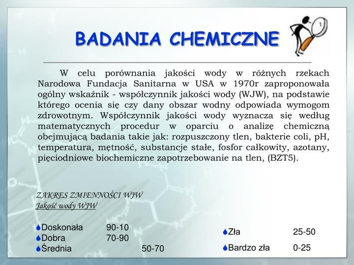 BADANIA CHEMICZNE