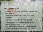 xml refresh terminology1