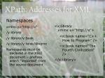 xpath addresses for xml25