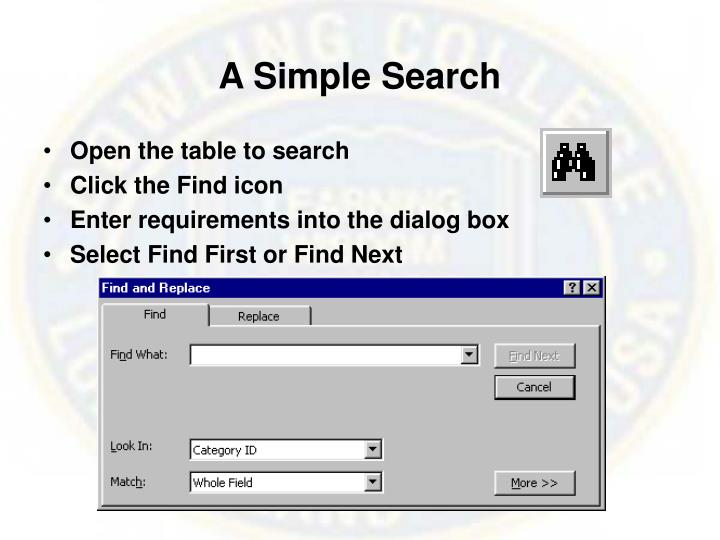 A Simple Search
