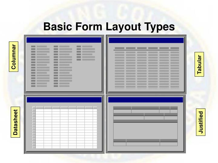 Basic Form Layout Types