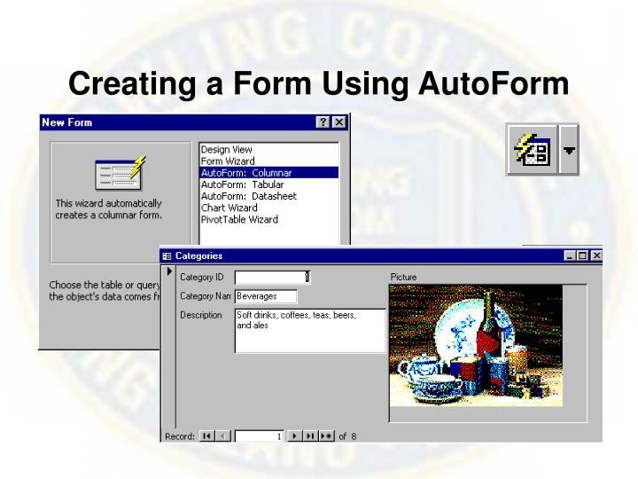 Creating a Form Using AutoForm