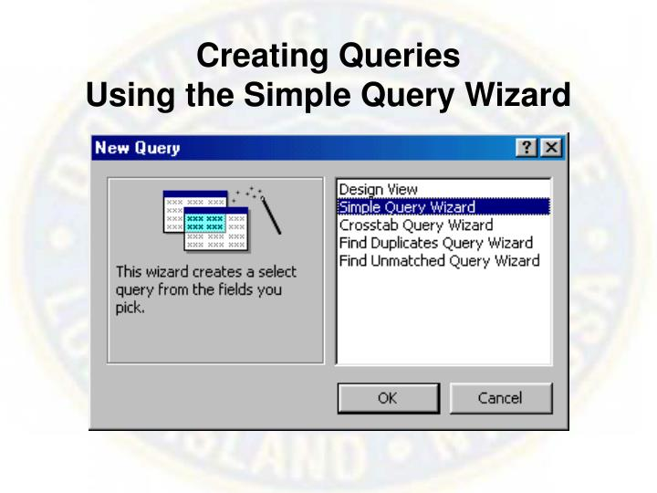 Creating Queries