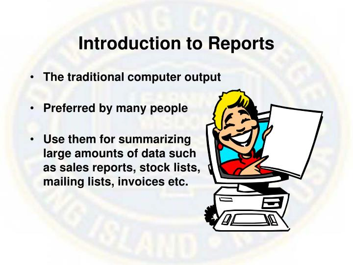 Introduction to Reports