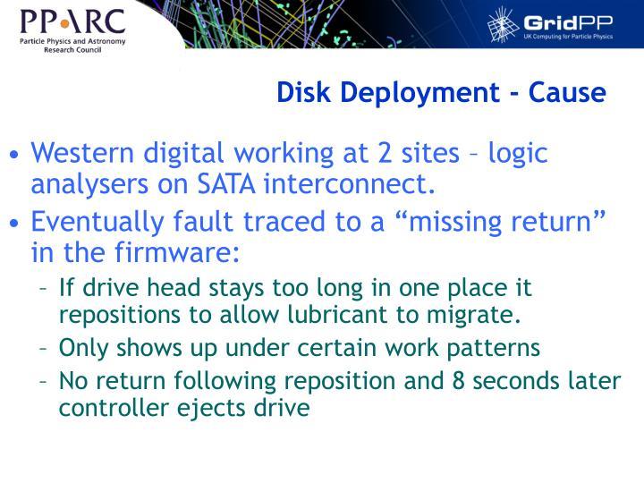 Disk Deployment - Cause