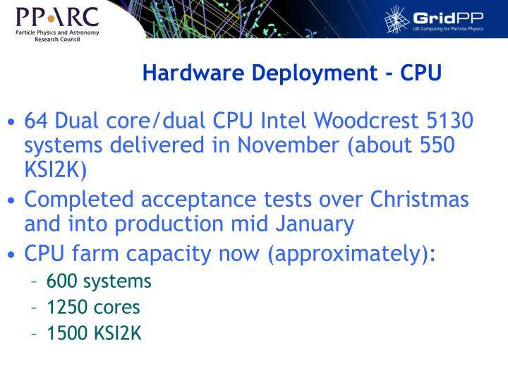 Hardware Deployment - CPU