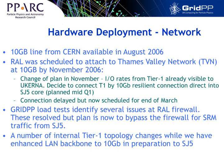Hardware Deployment - Network