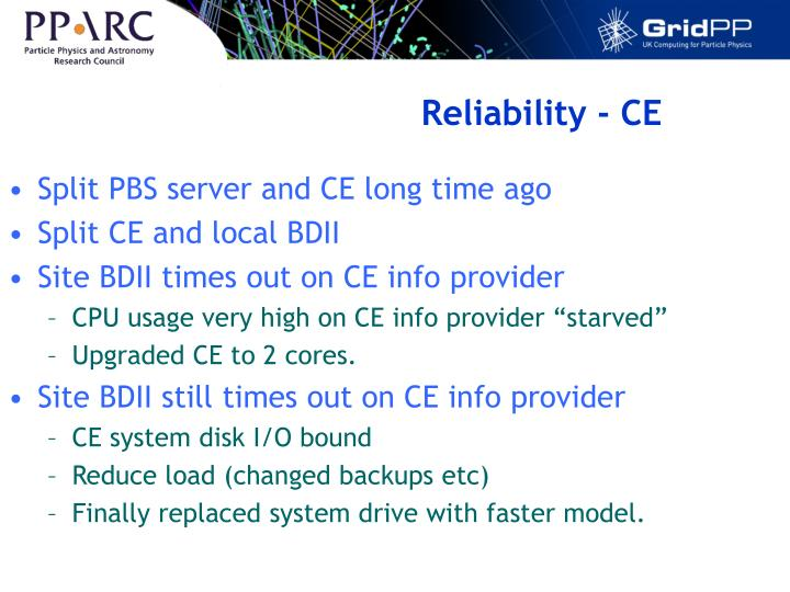 Reliability - CE