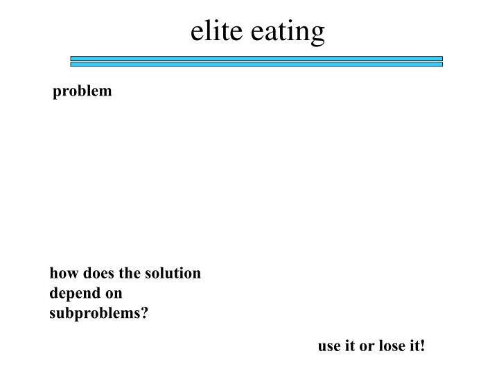 elite eating