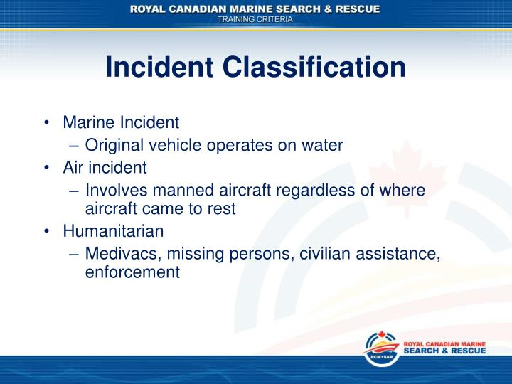 Incident Classification