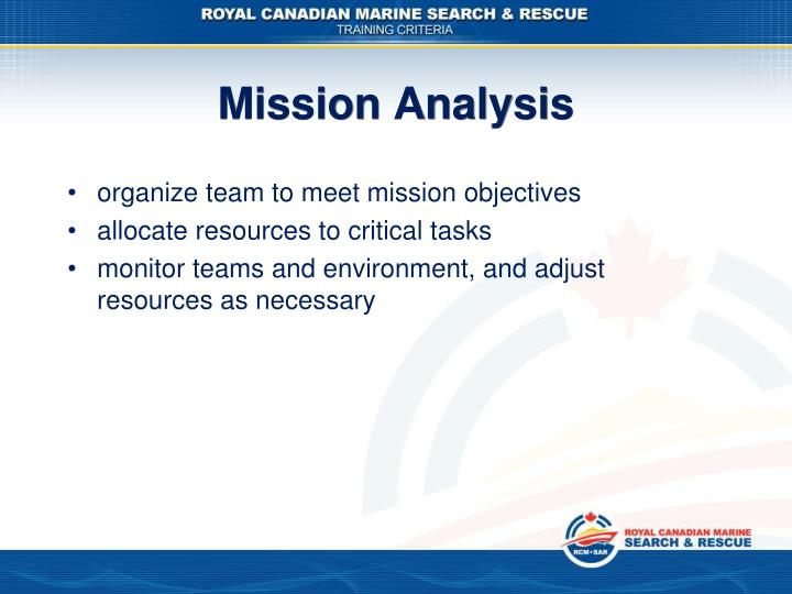 Mission Analysis