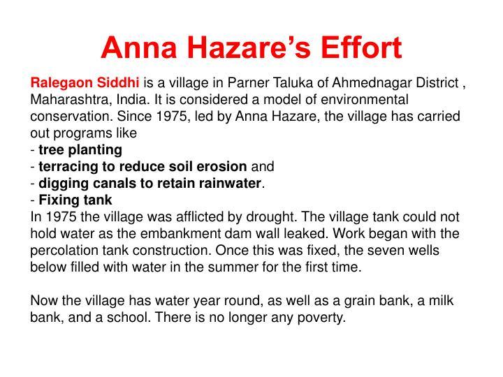 Anna Hazare's Effort
