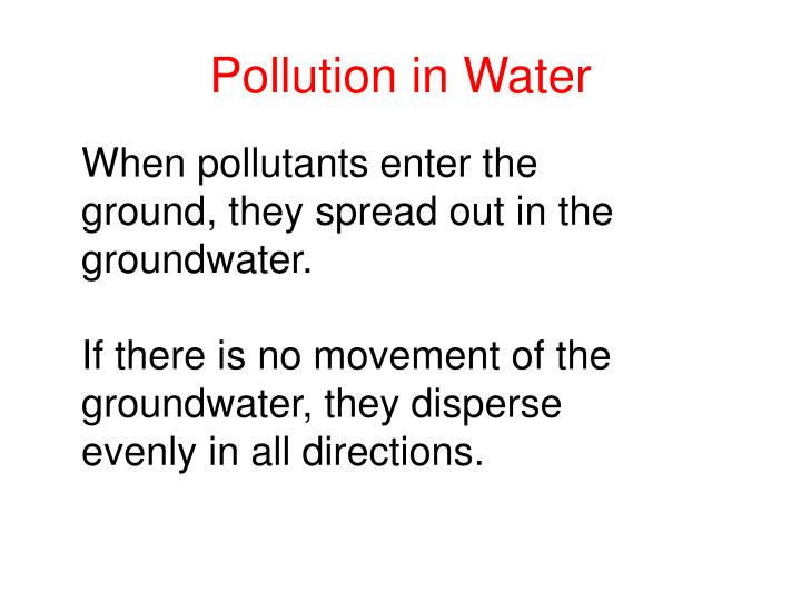 Pollution in Water