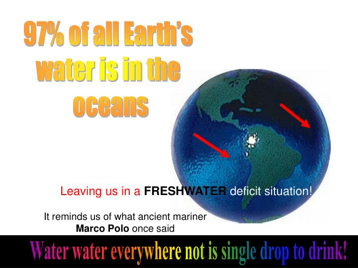 97% of all Earth's