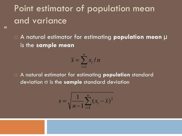 A natural estimator for estimating